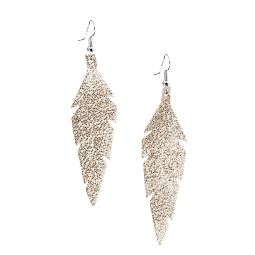 Viaminnet Feathers Midi Glitter Gold Earrings