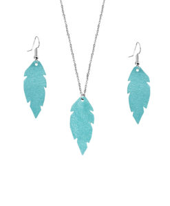Viaminnet Feathers Petite Powder Turquoise Jewellery Gift Set