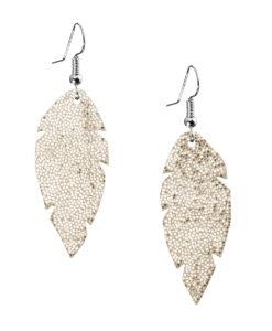 Viaminnet Feathers Petite Glitter Gold Earrings