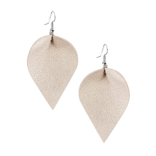 Viaminnet Lumme Grande Champagne Leather Earrings
