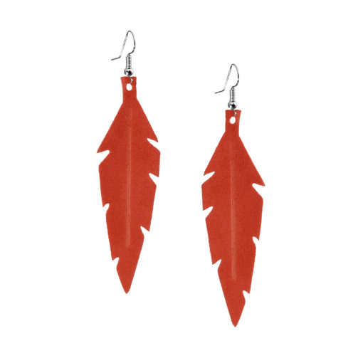 Viaminnet Feathers Midi Suede Golden Red