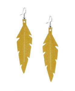 Viaminnet Feathers Midi Suede Yellow