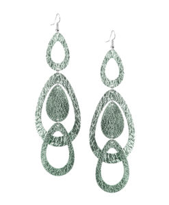 Sade Waterfall Grande Foiled Light Green Earrings