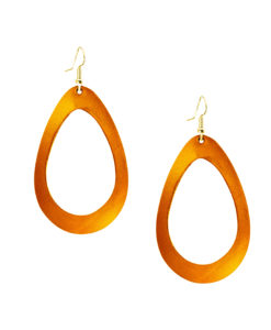 Viaminnet Sade Grande Mirror Cloudberry Leather Earrings