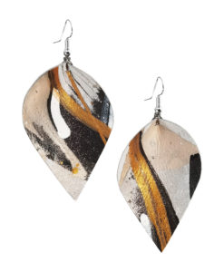 Viaminnet x Lotta Sirén Leather Earrings No. 302 Abstract Glamour