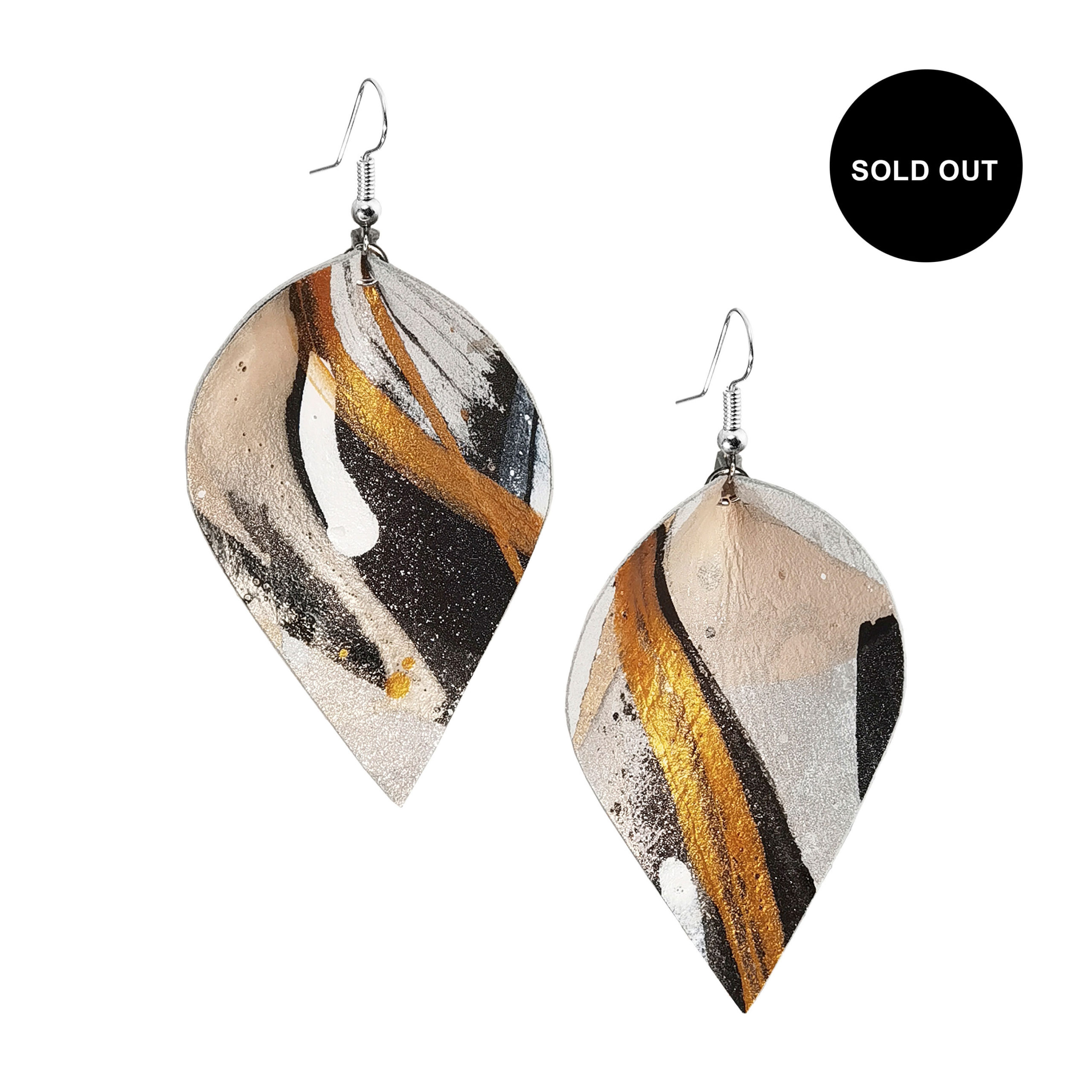 Viaminnet x Lotta Sirén Leather Earrings SOLD OUT No. 302 Abstract Glamour
