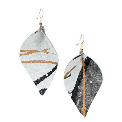 Viaminnet x Lotta Sirén Leather Earrings No. 308 Steal The Show