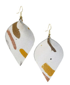 Viaminnet x Lotta Sirén Leather Earrings No. 401 Making My Mark Earrings