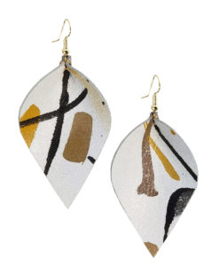 Viaminnet x Lotta Sirén Leather Earrings No. 402 Making My Mark