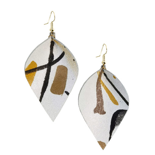 Viaminnet x Lotta Sirén Leather Earrings No. 402 Making My Mark Earrings