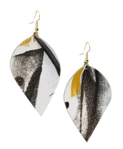 Viaminnet x Lotta Sirén Leather Earrings No. 403 Making My Mark