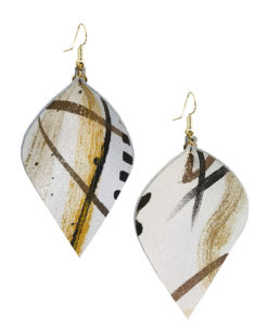 Viaminnet x Lotta Sirén Leather Earrings No. 404 Making My Mark Earrings