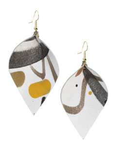 Viaminnet x Lotta Sirén Leather Earrings No. 405 Making My Mark Earrings