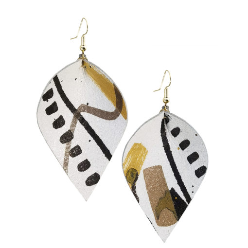 Viaminnet x Lotta Sirén Leather Earrings No. 406 Making My Mark Earrings