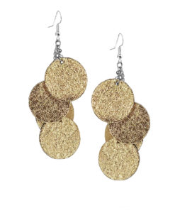 Viaminnet Bubbles Disco Gold Earrings