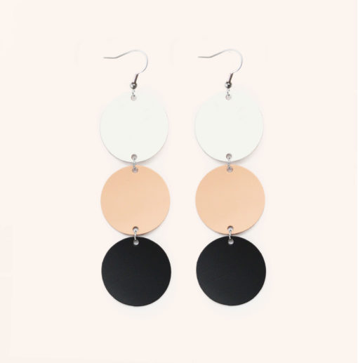 Dance Petite Trio Recycled Leather Earrings