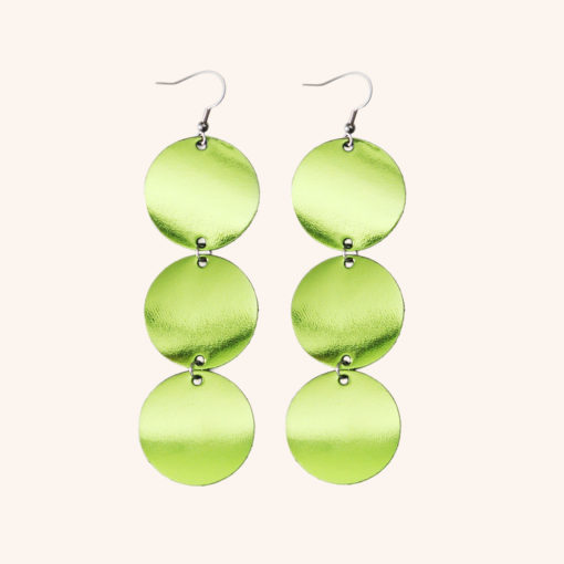 Dance Petite Trio Lime Leather Earrings