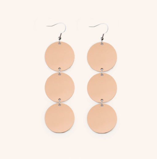 Dance Petite Trio Nude Recycled Leather Earrings