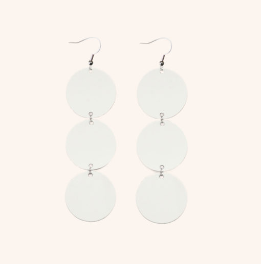 Dance Petite Trio White Recycled Leather Earrings