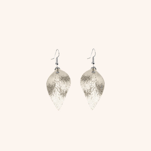 Lumme Petite Glitter Gold Leather Earrings