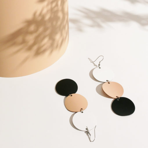 Dance Petite Trio Mix Recycled Leather Earrings