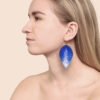 Lumme Grande Glitter Blue Leather Earrings