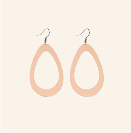 Sade Grande Nude Recycled Leather Earrings